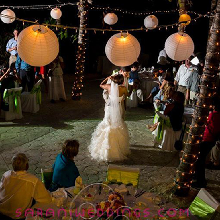 40 White Paper Lanterns Christmas