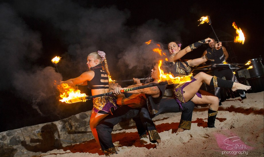 Fire + Afro Drums + Water Drums Show (8 Performers)