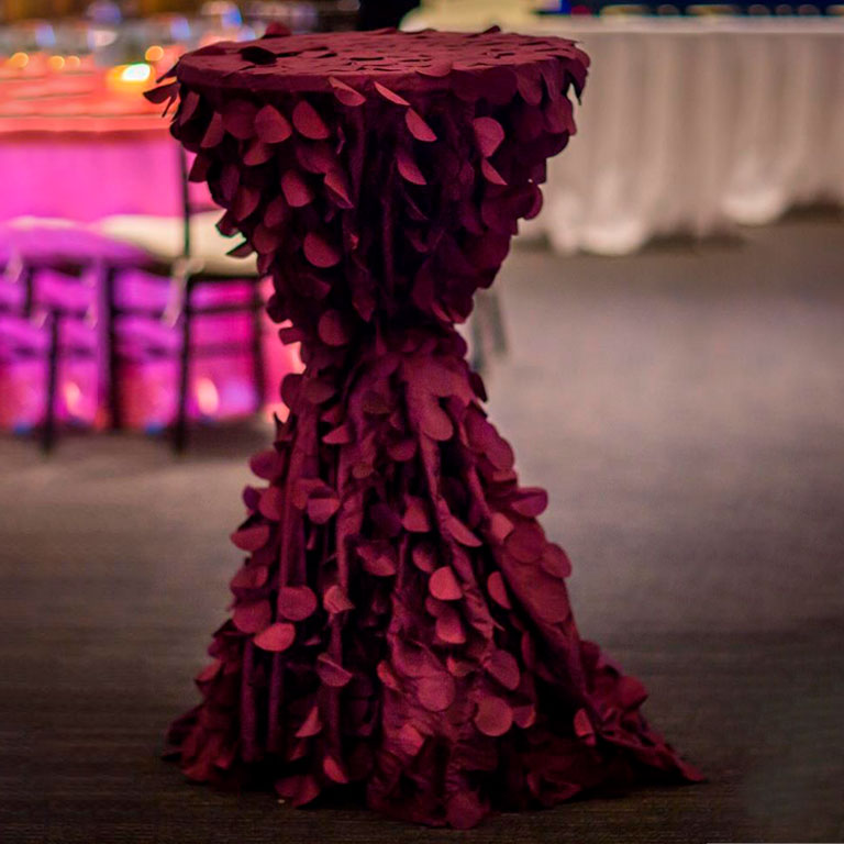 High Top Cocktail Table Color Linen