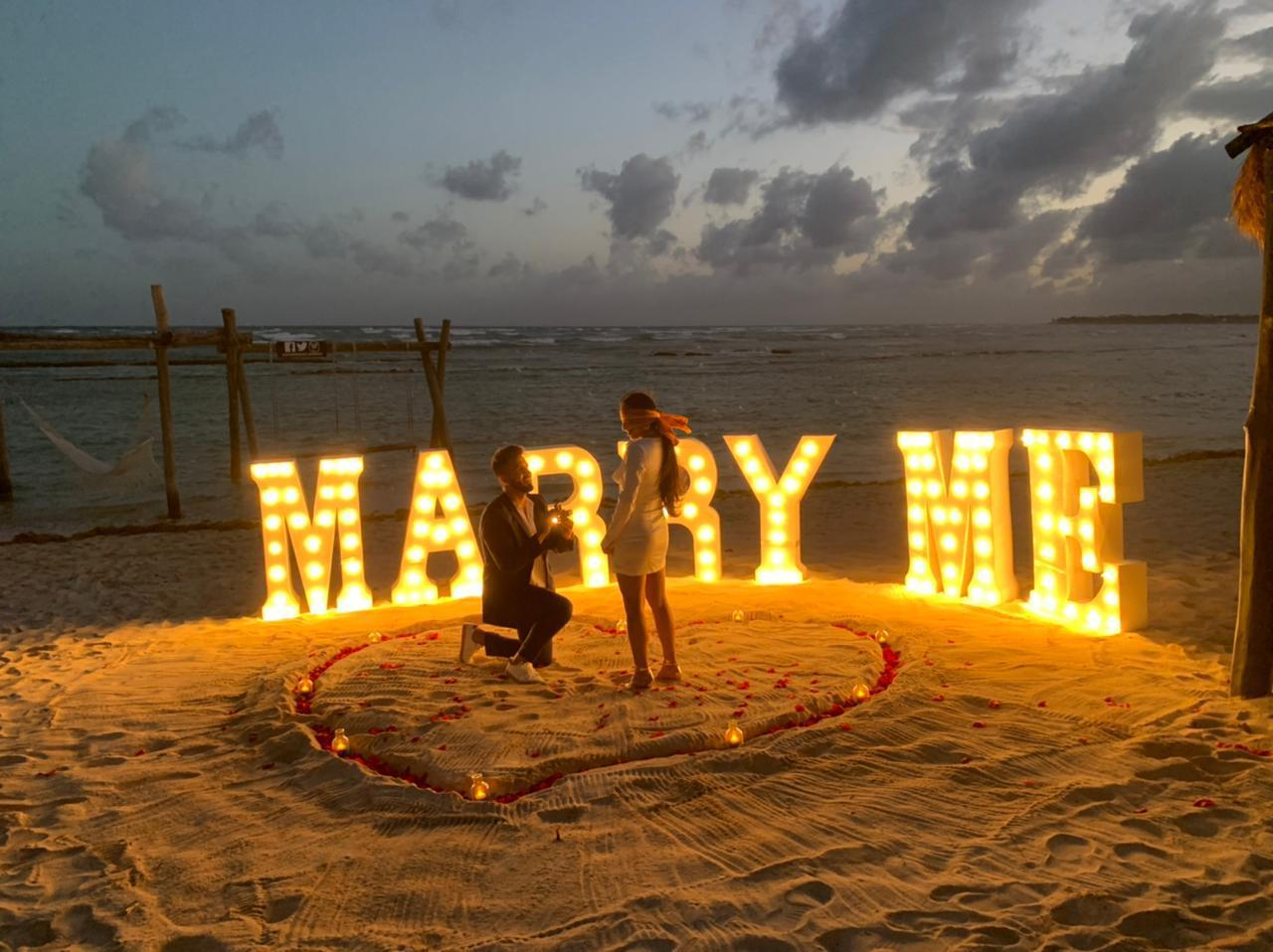 Marry Me Marriage Proposal Beach