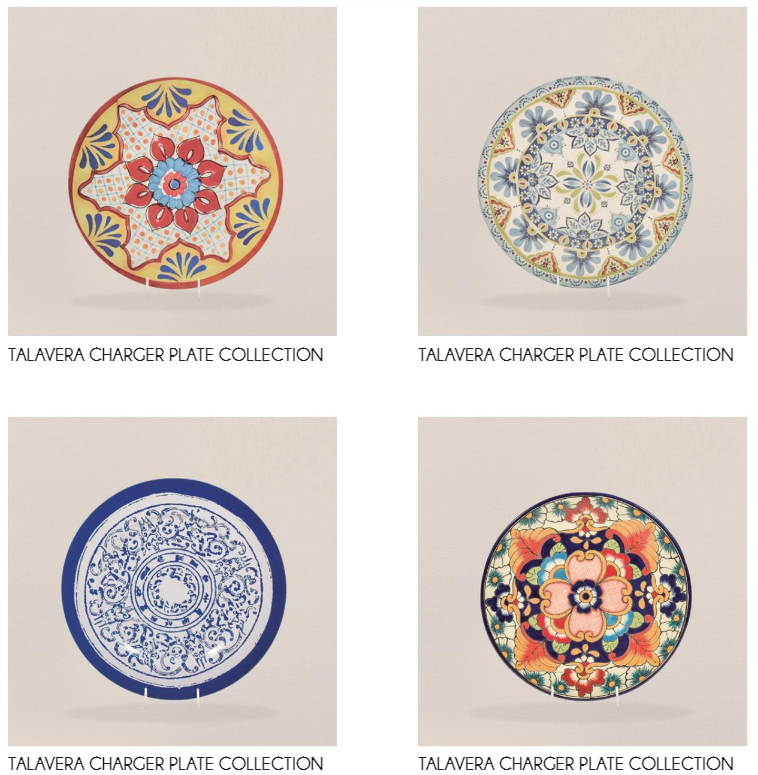 Mexican Ceramic Talavera Charger Plates.png