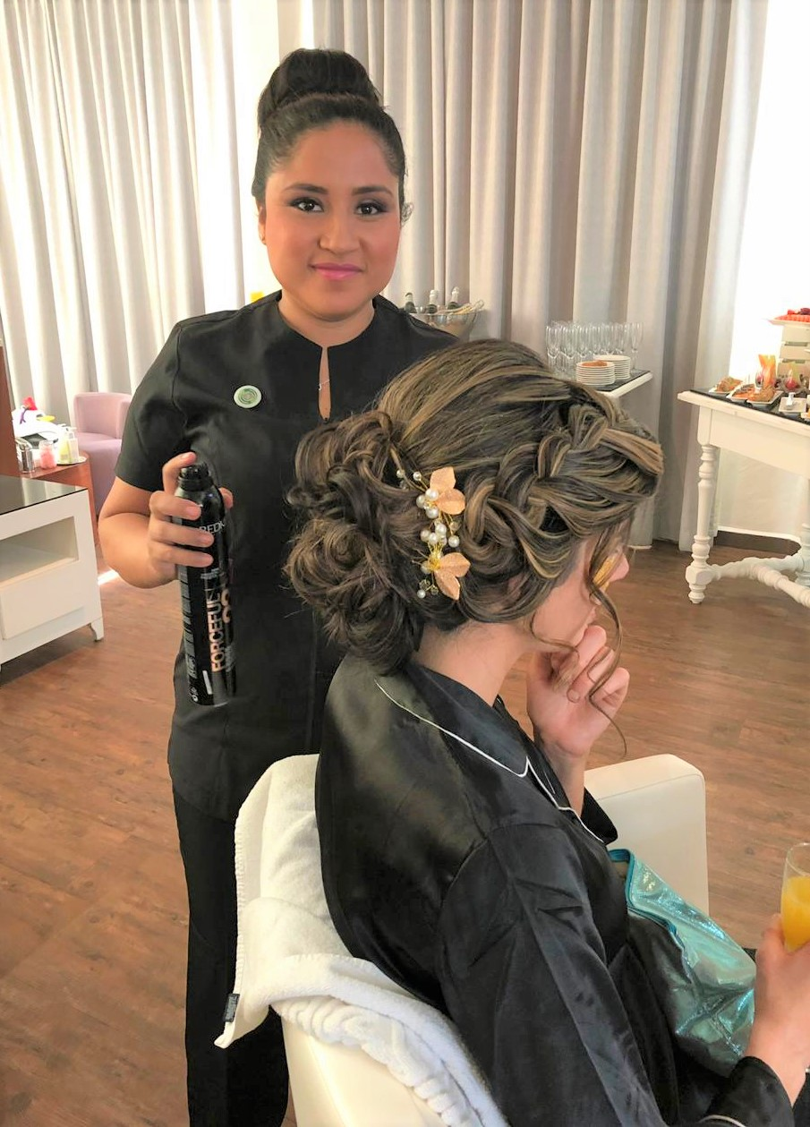 Naay Spa Memorable Moments Bridal Floor Hair