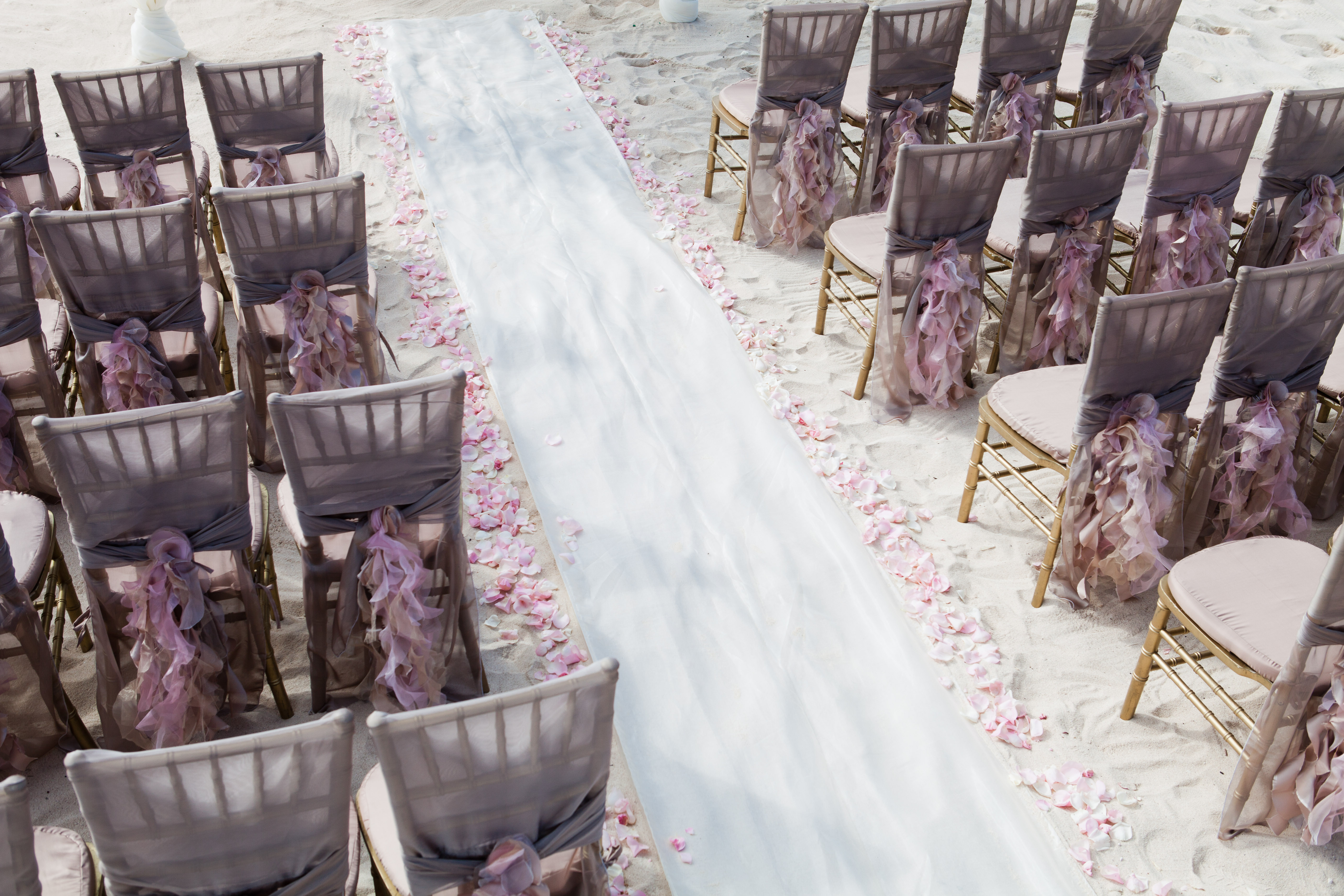 Pure Glamour   Chairs And Ceremony Aisle