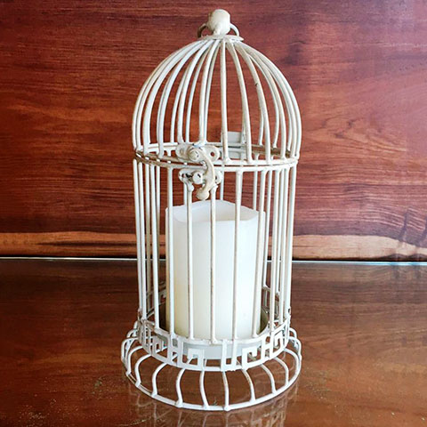 Vintage Bird Cage With 1 LED