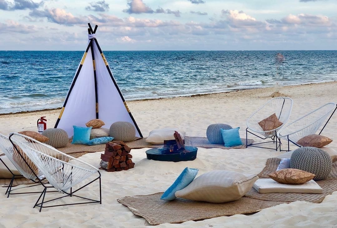Beach Teepee With Petates And Modern Lounge3