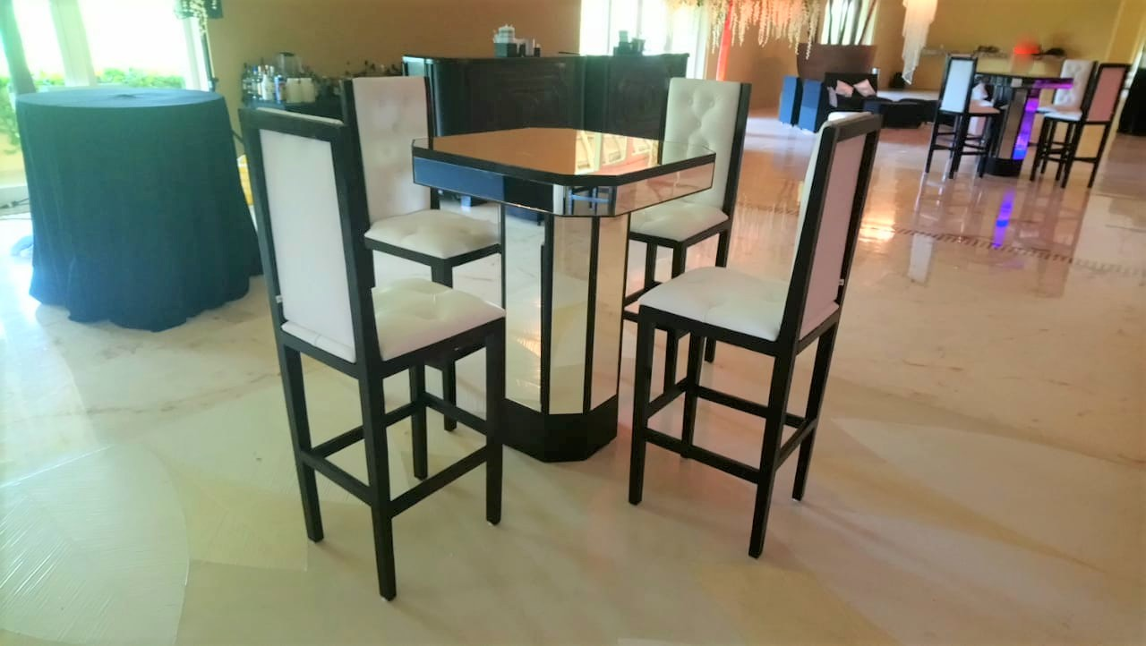 Black And White Cocktail Table