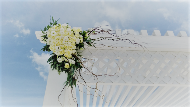 Boho Chic Hanging Corsage For Gazebo
