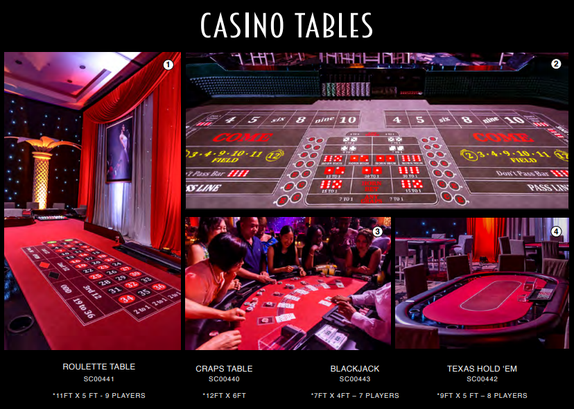Casino Tables Theme Night
