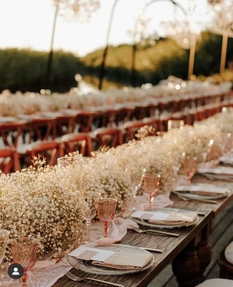 Exquisite Babys Breath Garland For Long Table.jfif