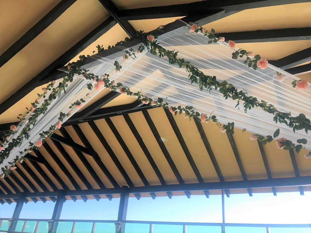 Faux Floral Garland For Pier Deck Decor