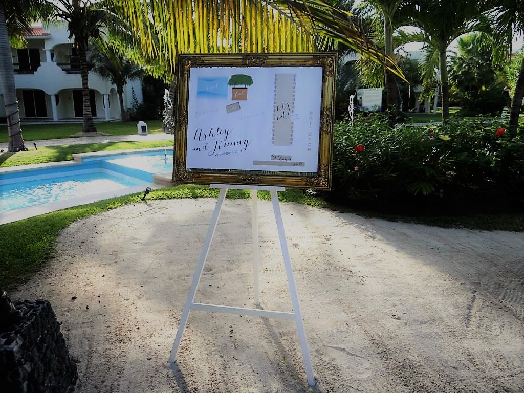 Frame For Seating Chart On White Easel