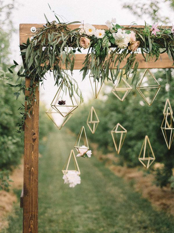 Geo Shapes Hanging From Gazebo