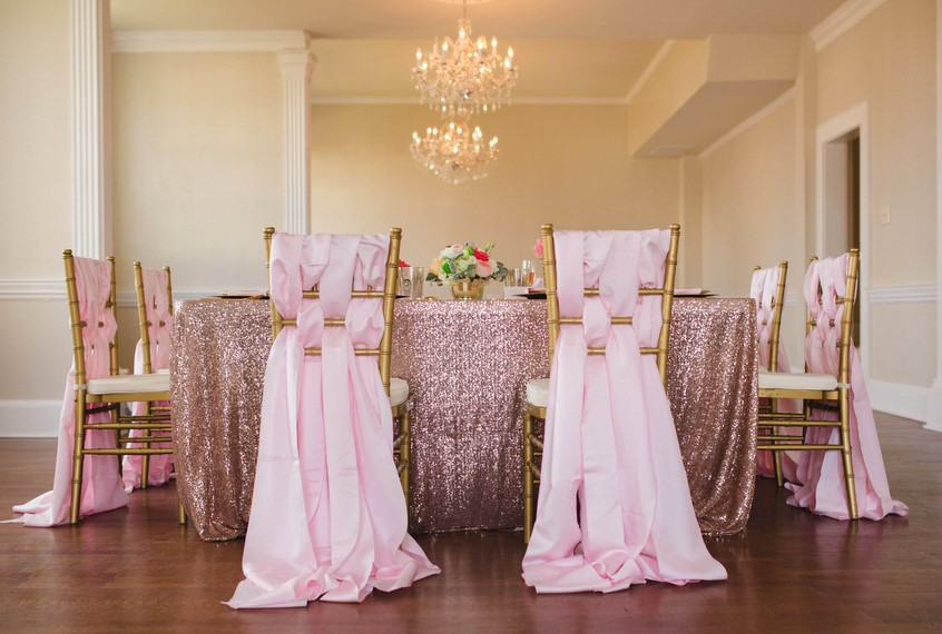 Grecian Pink Sashes Chair