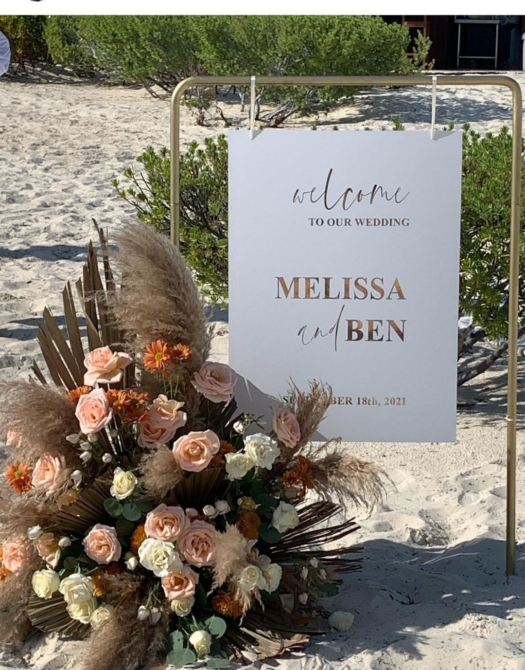 Hanging Signage For Ceremony