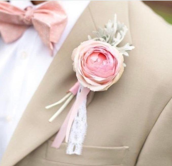 Pink Ranunculus Buttoniere