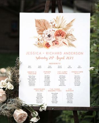 Printed Seating Chart For Reception.JPG