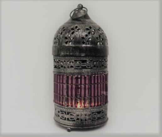 Purple Moroccan Lantern 8x4 Inches.png