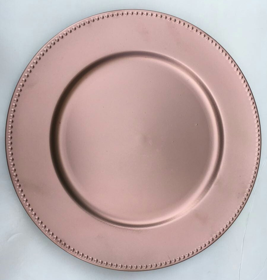 Rose Gold Charger Plate 10 Usd