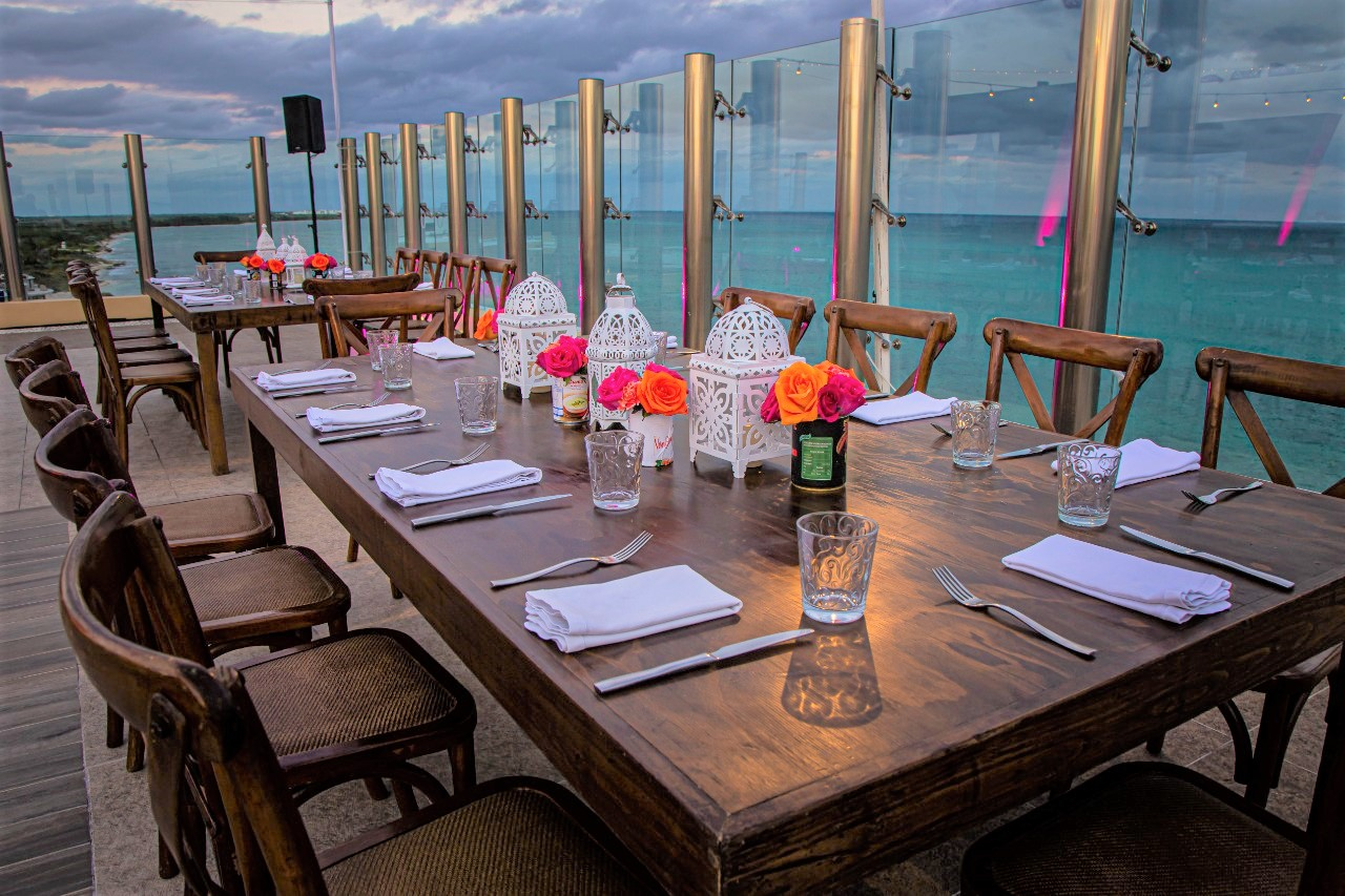 Sky Deck Long Tables Wooden