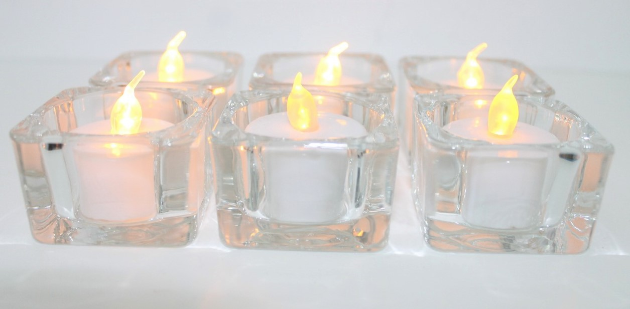 Tea Lights Glass Votives