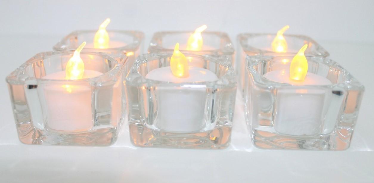 Tea Lights Glass Votives