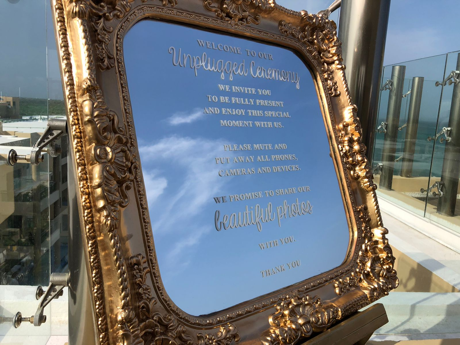 Unplugged Ceremony Mirror