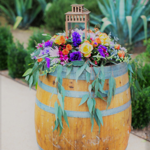 Vintage Rustic Wine Barrel