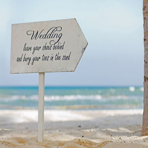 Wedding Sign Coastal Bliss