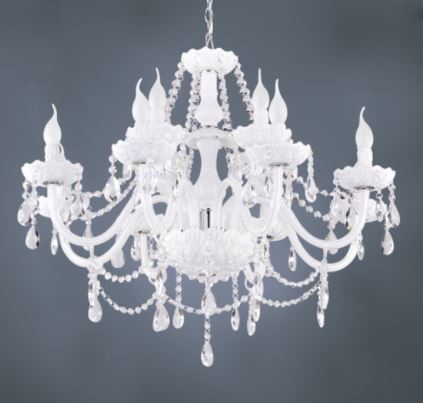 White Glass Chandelier.JPG