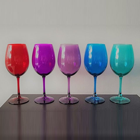 Wine Glass In Assorted Colors