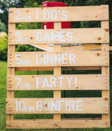 Wooden Pallet Sign Wedding Schedule   97 Usd.png